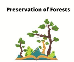 Preservation of Forests