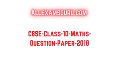 CBSE-Class-10-Maths-Question-Paper-2018